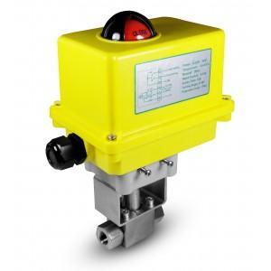 Supapă cu bilă de presiune de înaltă 1/2 inch SS304 HB22 cu actuator electric A250