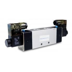Supapă electromagnetică 4V220 5/2 1/4 inch pentru cilindri pneumatici 230V sau 12V, 24V