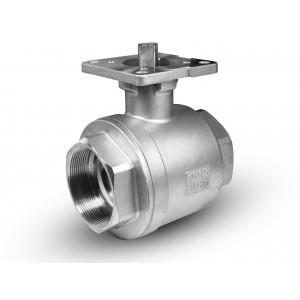 Supapă cu bilă din oțel inoxidabil DN15 1/2 inch placă de montaj ISO5211
