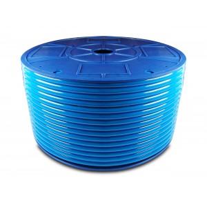 Furtun pneumatic poliuretanic PU 6/4 mm 200m albastru