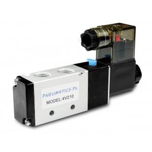 Valva electromagnetică pentru cilindrii pneumatici 4V210 5/2 1/4 230V 12V 24V