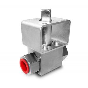 Supapă cu bilă de înaltă presiune 1/2 inch SS304 Placă de montare HB22 ISO5211