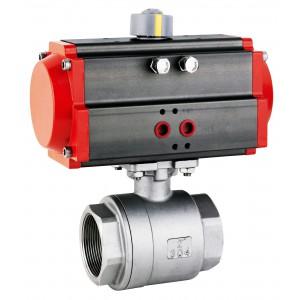 Supapă cu bilă din oțel inoxidabil DN1 de 1/2 inch cu servomotor pneumatic AT63