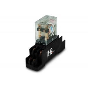 Releu 10A 2x NO / NC cu o bază pentru montare pe o șină DIN