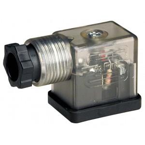 Conectați la supapa solenoidală DIN 43650B cu LED - mic