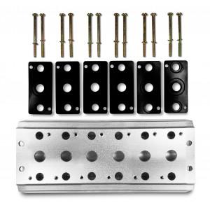 Plăcuță colector pentru conectarea a 6 supape 1/4 seria 4V2 Terminal de grup 4A 5/2 5/3