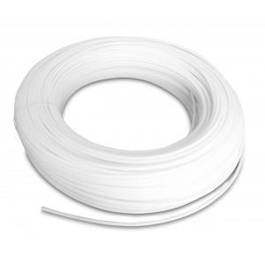 Furtun pneumatic de poliamidă PA Tekalan 12/10 mm 1m alb
