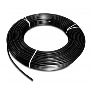 Poliamidă pneumatică PA Tekalan 4 / 2,5 mm 1m negru