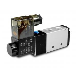 Valva electromagnetică 5/2 4V410 1/2 inch pentru cilindrii pneumatici 230V sau 12V, 24V