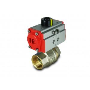 Supapă cu bilă din alamă 2 inci DN50 cu dispozitiv de acționare pneumatică AT52