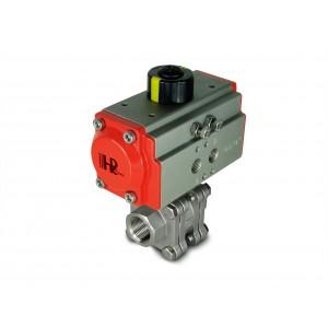 Supapă cu bilă din oțel inoxidabil 1 inch DN25 PN125 cu actuator pneumatic AT52